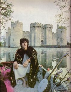 "daria-greene: "" Donovan outside of Bodiam Castle in '67, photo taken by Karl Ferris """