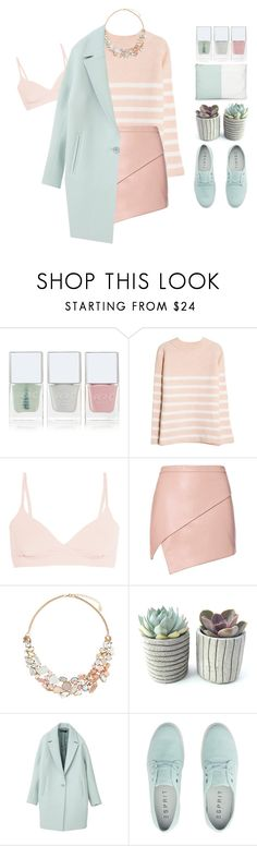 """""""Nosedive 3x01 inspired outfit"""" by riasgremoryx ❤ liked on Polyvore featuring Nails Inc., MANGO, Yummie by Heather Thomson, Michelle Mason, Accessorize, Neiman Marcus and blackmirror"""