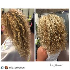 Color by Me! #teamwork #repost #pintura #highlights #curlyhair. missyr_devacurl_colorist