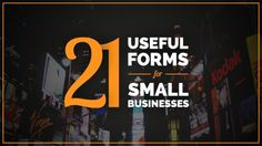 21 Useful Forms For Small Businesses #SMBs #roadshows