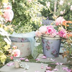 Blooming Bucket Collection ~ Rachel Ashwell collection  ~ Shabby Chic Style & Inspiration ♥ #shabbychic