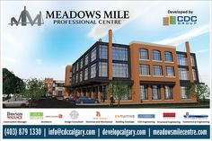 Site Sign   Meadows Mile Professional Centre  #yycre #OnTheMile