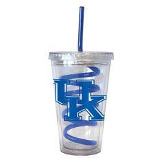 Kentucky Wildcats Swirl Straw Tumbler