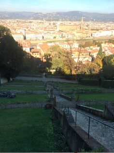 The top of the hill with a view of Florence below -  Bardini Gardens, Florence
