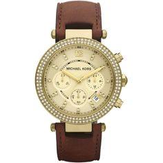 womens watches | Michael Kors Womens Leather Strap Chronograph Watch MK2249 - Michael ...