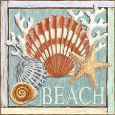 Making A Bridal Shower Scrapbook – Scrapbooking Fun! Coastal Style, Coastal Decor, Bridal Shower Scrapbook, Decoupage Printables, Underwater Painting, Nautical Art, 5d Diamond Painting, Decoupage Paper, Beach Crafts