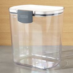 Shop Progressive ® ProKeeper 4-Qt.  Flour Storage Container.  This innovative flour keeper has a silicone gasket for airtight storage and clear body with measurement markings to keep track of how much flour you have left.