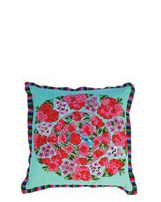 Karma Living Mis Flores Latino Americanas Pillow