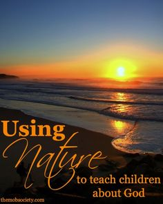 Summer is the PERFECT time to get outside and teach your kids about how all of creation points to our Creator. Click over to read some specific examples.