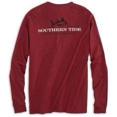 Southern Tide Men's LS Gameday Rising SJTee