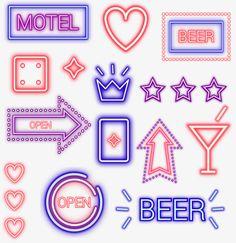 Neon Png, Bar, Beer Opener, Neon Lighting, Overlays, Lights, Frame, Logo, Ideas