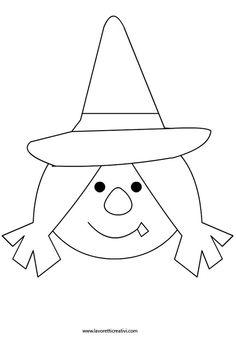 Čarodějka - omalovánka