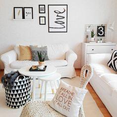 Rentoa ja kodikasta tunnelmaa olohuoneessa