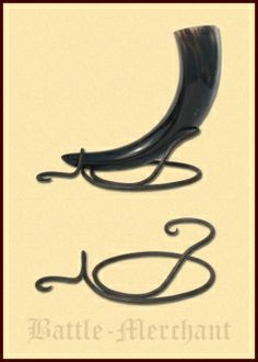 Drinking horn Stand Hand Forged Small