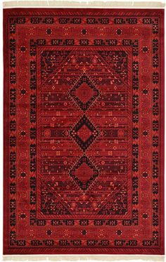 Red 6' x 9' Bokhara Rug | Area Rugs | eSaleRugs
