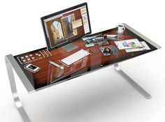 Surface desk, with an Imac on it rather... Im techy+design addict...