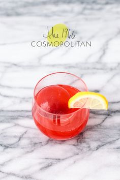 The 1966 Cosmopolitan • 1 1/4 oz vodka • 1 oz raspberry tincture • 3/4 fresh squeezed lemon juice • 3-4 drops of orange blossom water