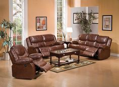 2 pc fullerton brown bonded leather match power motion recliners sofa and love seat. This set includes the sofa and love seat with a brown bonded leather match upholstery with Power motion reclining seats on the love seat and sofa with overstuffed arm res 3 Piece Living Room Set, Leather Living Room Set, Leather Sofa And Loveseat, Sofa And Loveseat Set, Acme Furniture, Living Room Furniture, Furniture Ideas, Furniture Design, Wayfair Living Room Sets