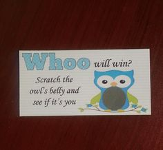 20 Blue Owl Scratch Off Tickets by msmemories101 on Etsy