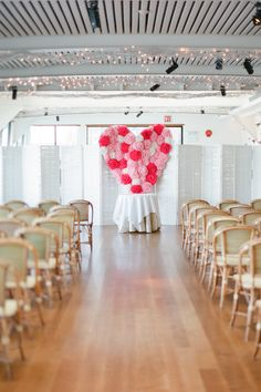 Can't get enough of the beautiful ceremony backdrop - Bright and Colorful New York City Affair by Brklyn View Photography