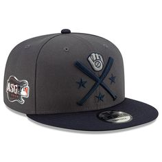 cheap for discount fd94a a0f37 Men s Milwaukee Brewers New Era Graphite Navy 2019 MLB All-Star Workout 9FIFTY  Snapback