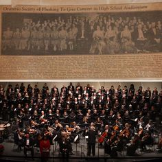 #OSQ90th Then: 1942 Holiday Concert at Flushing High School's auditorium as Oratorio Society of Flushing Now: Our 2016 Holiday Concert