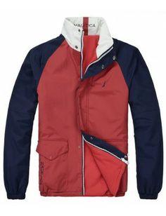 Nautica chaqueta reversible de hombre   Red-navy Motorcycle Jacket, Jackets, Fashion, Men, Down Jackets, Moda, Fashion Styles, Fashion Illustrations, Jacket