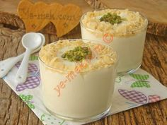 Krem Şantili Muhallebi Tarifi Pudding, Homemade Beauty Products, Milkshake, Smoothie Recipes, New Recipes, Tiramisu, Dessert Recipes, Food And Drink, Cooking