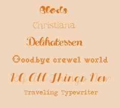Typography #2. Rustic touch