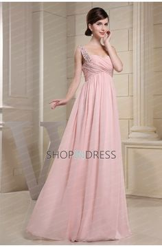 pink dress #chiffon #pink #formal #dresses #prom