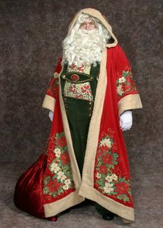 Inventory ::: Hale Center Foundation for the Arts and Education Father Christmas, Christmas Fun, Victorian Christmas, Vintage Christmas, Christmas Costumes, Santa Costumes, Christmas Figurines, Santa Outfit, Santa Dress
