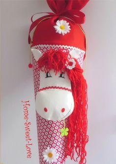 """Schultüte """"  Pony in red """" Zuckertüte Pferd von Home-sweet-love auf DaWanda.com"""