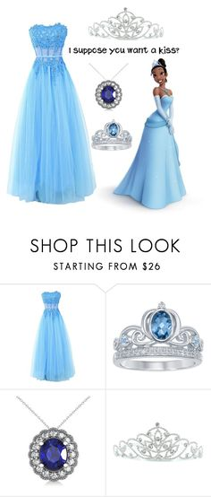 """""""The Princess and the Frog Prom"""" by irishgirl3333 ❤ liked on Polyvore featuring Disney, Allurez and Kate Marie"""