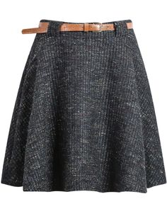 Black Tweed Flouncing Skirt 20.00