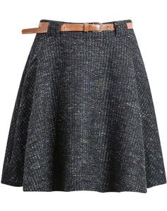 Black Tweed Flouncing Skirt 20.00