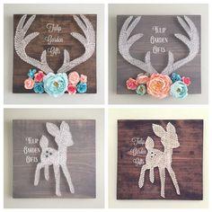 Little Deer String Art Deer String Art Baby by TulipGardenGifts