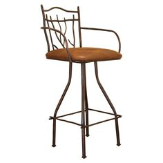 Have to have it. Cantina 24 in. Branch Hand-Forged Barstool - Brown - $352.84 @hayneedle
