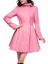 Pink High Collar Wrap Coat with Bow Decor Wrap Coat, High Collar, Passion For Fashion, Dresses For Work, Bows, Elegant, My Style, Spring, How To Wear