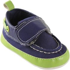 Luvable Friends Newborn Baby Boy Bright Boat Crib Shoess, Size: 0 - 6 Months, Green
