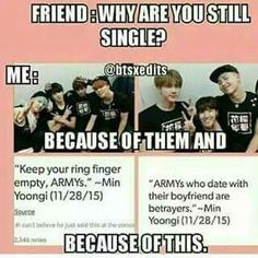 So, am I a betrayer too? Cause I love you Min Yoongi oppa!