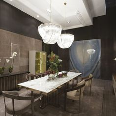 The extreme elegance of Fratelli Longhi stand during the last Salone del Mobile in Milan. #tbt