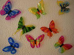pas à pas : papillons en plastique de bouteille