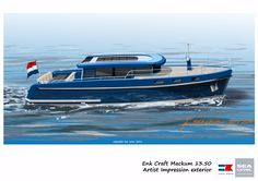13.5m displacement motor yacht for inland waters