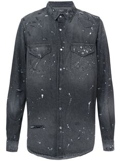 Amiri paint-splatter denim shirt