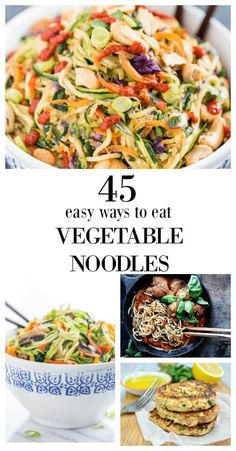 45 Easy Ways to Eat Vegetable Noodles - Savory Lotus Vegetable noodles are a healthy alternative to traditional pasta. And can be made from just about anything. Need some gluten free inspiration?
