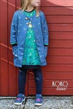 Lässige Jacke für Kinder für den Frühling - Schnittmuster und Nähanleitung via Makerist.de
