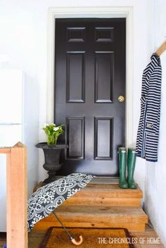 I love the look of black doors but i am afraid to do itunless i how to paint a paneled door in 30 minutes total planetlyrics Images