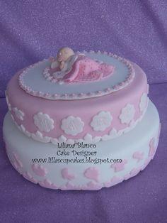 Baby girl cake Baby Shower Treats, Baby Shower Cakes, Cupcake Cakes, Cupcakes, Baby Girl Cakes, Sugar Art, Desserts, Food, Essen
