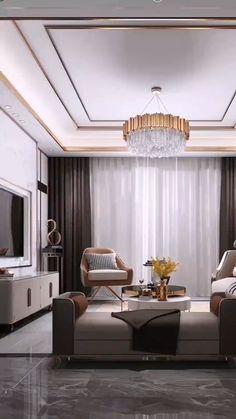 House Ceiling Design, Ceiling Design Living Room, Bedroom False Ceiling Design, Hotel Room Design, Interior Design Living Room, Living Room Designs, Living Tv, My Living Room, Living Room Decor