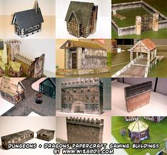 build free Dungeons & Dragons papercraft tabletop gaming buildings and structures!